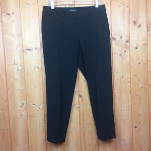 WHBM Black Cropped Legacy Loose Fit Pants 8